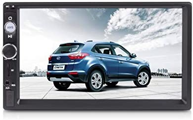 Universal 2 DIN Car Media Player with 7 Inch Touchscreen, FM/AM, Bluetooth