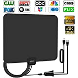 Digital Amplified HD TV Antenna 50-80 Mile Range -[Upgraded 2018] Support 4K 1080p All TV's w/Detachable HDTV Amplifier Signal Booster - 13.5 Longer Coax Cable