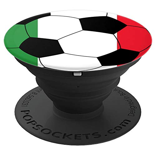 Italy Soccer Design, Italian Flag, Soccer Gift - PopSockets Grip and Stand for Phones and Tablets (Best Italian Football Players)
