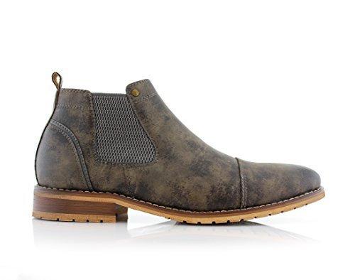 Ferro Aldo Sterling MFA606325 Mens Casual Chelsea Slip on Ankle Boots - Grey Size 12