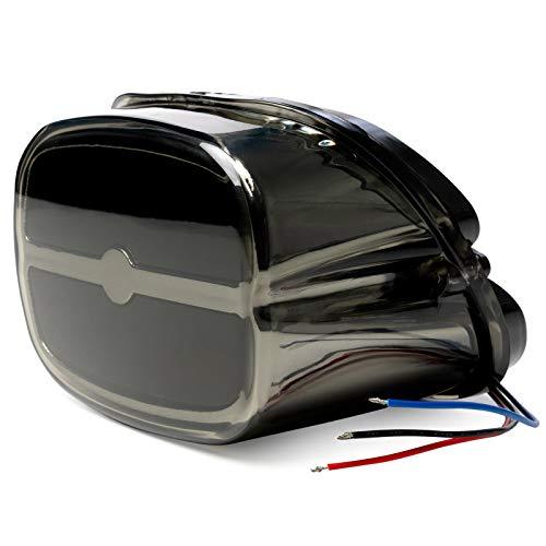 (Bar Taillight w/Smoke Lens & Chrome Housing - Brake/Running/License Plate Light for Harley Davidson Softail Standard - FXSTI (2001-2006) )