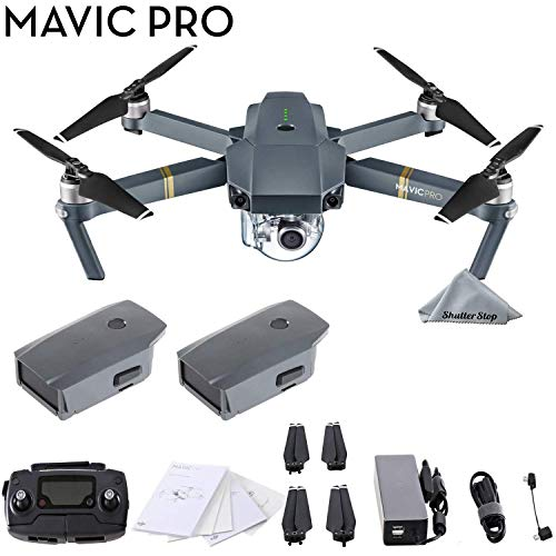 DJI Mavic Pro 4K Quadcopter with Remote Controller, 2 Batteries,...