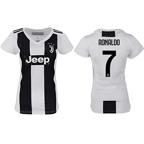 Panini Group Cristiano Ronaldo Juventus #7 Women's Soccer Jersey Home Short Sleeve Adult Sizes (L, Ronaldo 7) from Panini Group