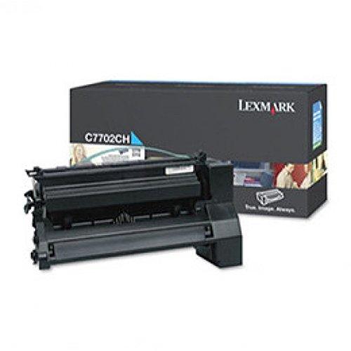 (Lexmark C7702CH High Yield - cyan - original - toner cartridge LCCP - for C770dn, 770dtn, 770n, 772, 772dn, 772dtn, 772n, X772e, 772es)