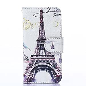 QHY Splendent France Tower Pattern PU Leather Full Body Case with Stand for iPhone 5/5S