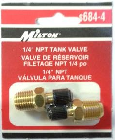 Tank Valve 1/4Npt Male-3Pack by Milton Industries (Image #1)
