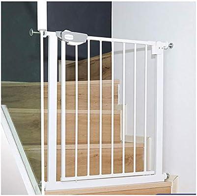 Puerta De Seguridad Para Bebés Expandible Para Escaleras Montaje De Presión Extendido Valla Para Mascotas Barra De Puerta De Aislamiento Protector Fácil De Instalar Para (Color:Blanco,Size:75~84cm) : Amazon.es: Hogar