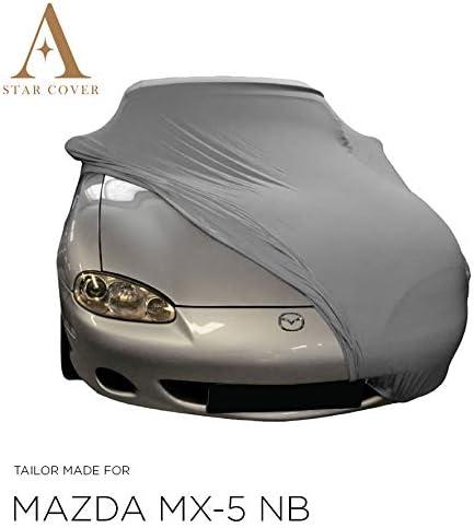AUTOABDECKUNG GRAU PASSEND F/ÜR Mazda MX-5 NB INNEN SCHUTZH/ÜLLE ABDECKPLANE SCHUTZDECKE VOLLGARAGE Cover