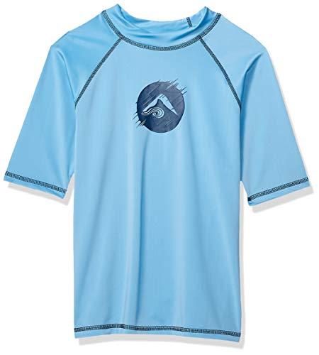Kanu Surf Toddler Boys' Paradise UPF 50+ Sun Protective Rashguard, Dolphin Alaska Blue, 2T]()