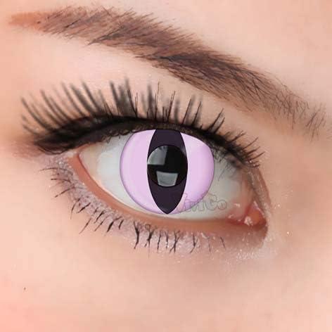 WILD ANIMAL Lentillas de color cosplay para rosado Halloween duende lentillas gratis caso de lente, sin dioprtías sharingan CL142 PINK CATEYE(2 piezas): Amazon.es: Salud y cuidado personal