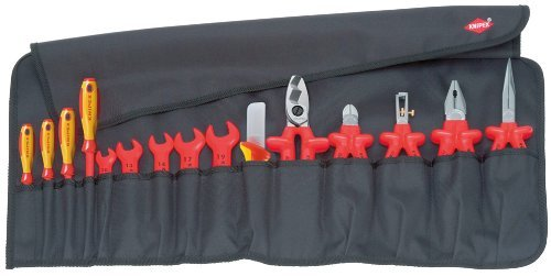 KNIPEX 98 99 13 Tool Roll 15 parts with insulated tools for works on electrical installations by Knipex by Knipex