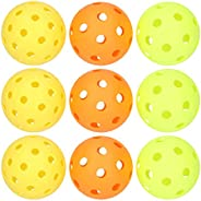 Pickleball Balls,40/26Holes Pickleball Balls Indoor Outdoor Practice PE Pickle Balls with Bright Color