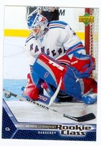 Amazon Com Henrik Lundqvist Hockey Card New York Rangers 2006