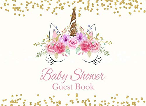 Baby Shower Guest Book: Unicorn Advice for Parents and Gift Log -