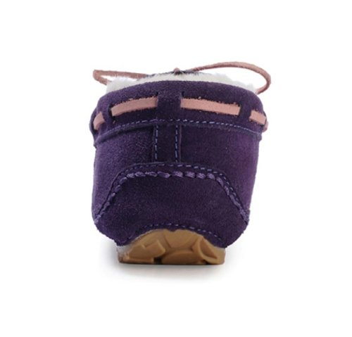 Moccasins Genuine Fashion Fashion Womens Cutty Slippers Womens Shearling Purple Leather PCPqgxHw