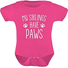 TeeStars - My Siblings Have Paws Funny One-Piece Infant Baby Bodysuit