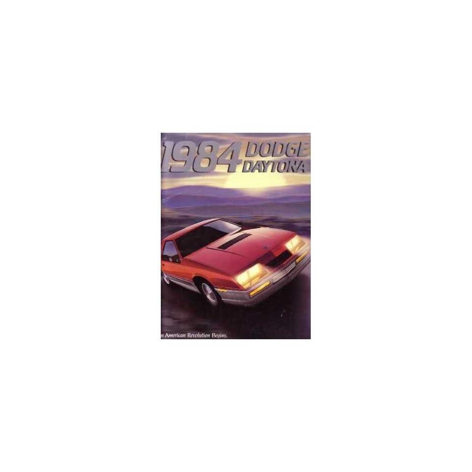 1984 DODGE DAYTONA Sales Brochure Literature Book
