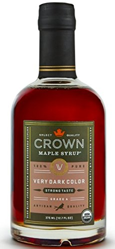 Crown Maple Organic Grade A Maple Syrup, Very Dark, 12.7 Ounce