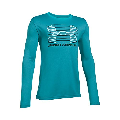 Under Armour Boys' Breakthrough Logo Long Sleeve T-Shirt, Pacific (478), Youth Small