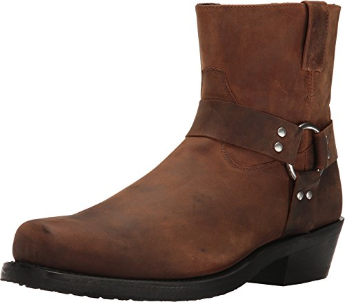 (Old West Boots Men's Short Harness Boot Brown Distressed 9.5 D)