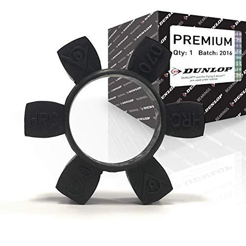 Dunlop HRC70I BLACK HRC Kupplungseinsatz, schwarz, 25,5 mm Flanschlänge, 31 Nm Nenndrehmoment, 60 mm Nabendurchmesser, 69 mm Durchmesser