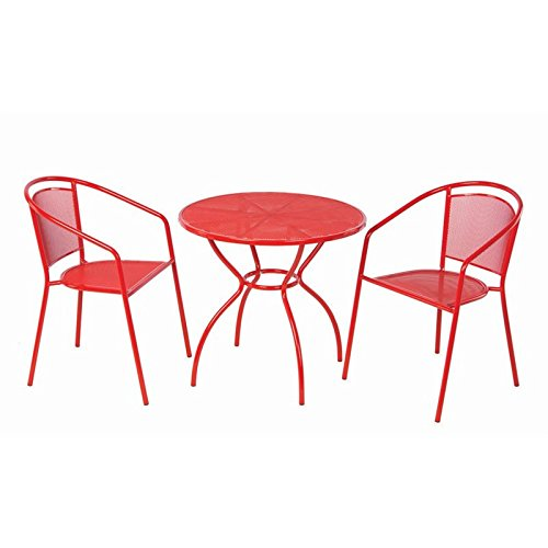 (Alfresco Home Martini 3Piece Bistro Set in Cherry Pie Finish with 31.5