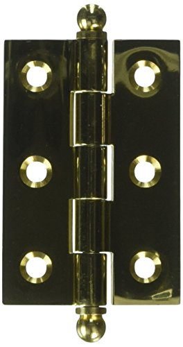 (Deltana CH2517U3 Solid Brass 2-1/2-Inch x 1-11/16-Inch Cabinet Hinge with Ball Tips)