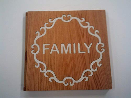 golden pecan stained Solid Wood Photo Album #2 (Pecan Solid)