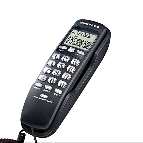 WDWL Fixed Telephone Home Wall-Mounted Landline Room Wall-Mounted Caller ID Mini-Small Extension WD (Color : Black) from WDWL