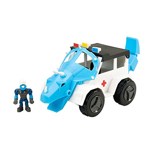 Educational Insights Dino Construction Company Rescue Crew Turbo The Triceratops Police SUV Toy