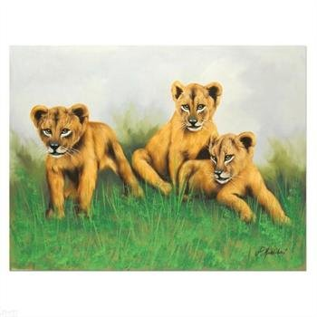 (Cute Cubs - Untitled ORIGINAL Painting on Canvas (40