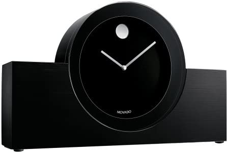 Movado Black Aluminum Crystal Clock