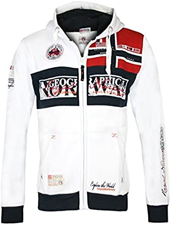 FLYER GEOGRAPHICAL NORWAY Hombre Dise/ñador Hoodie Capucha Chaqueta
