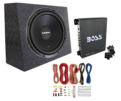 Rockford Fosgate R1S4-10 10 300W Subwoofer + Sealed Box + Mono Amp + Wiring Kit