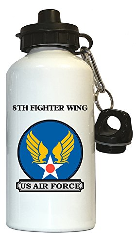 8th Fighter Wing - US Air Force Water Bottle White, 1021
