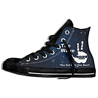 The Jeep Wave You Get It Or You Don't High Top Classic Casual Canvas Fashion Shoes Sneakers For Women & Men