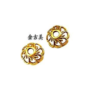 64f965636533 Amazon.co.jp: 菊座・花座・ビーズキャップ メタルパーツ 【金古美】20 ...