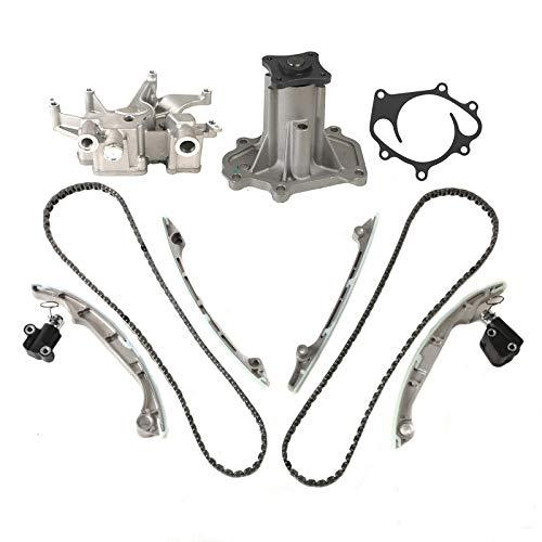 MOCA Timing Chain Oil Pump Water Pump Kit for 2009-2004 Infiniti Qx56 & Nissan Armada Titan & Nissan Pathfinder 5.6L V8 DOHC VK56DE Engine Code