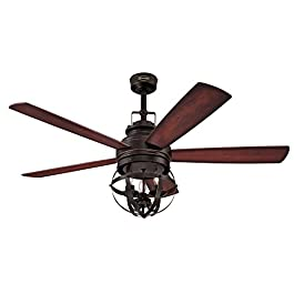 Westinghouse Lighting 7217100 Stella Mira 52-Inch Vintage Ceiling Fan, Reversible Blades, Oil Rubbed Bronze Finish