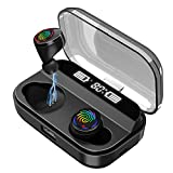 [2019 Latest Style]Wireless Earbuds, RegeMoudal Bluetooth Earbuds with Charging Display,Bluetooth Headset Wireless Earphones IPX7 Waterproof Bluetooth 5.0 Hi-Fi Stereo Sound with 4000mAH Charging Case