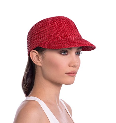 ashion Designer Women's Headwear Hat - Mondo Cap (Red, Small/Medium) (Mondo Head)