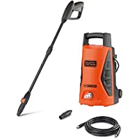 Black+Decker 1300W 100 Bar Electric Pressure Washer for Home, Garden & Cars, Orange/Black - PW1370TD-B5, 2 Years…