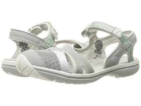 (キーン) KEEN レディースサンダル?靴 Sage Ankle Neutral Gray/Malachite 8.5 25.5cm B - Medium [並行輸入品]