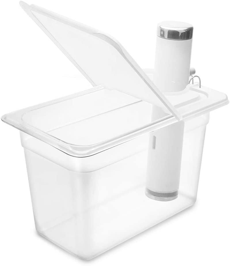 EVERIE Collapsible Hinged Lid Compatible with Chetsteps Joule Sous Vide Cooker, Fits Everie Sous Vide Container 7 Quarts, Side Mount