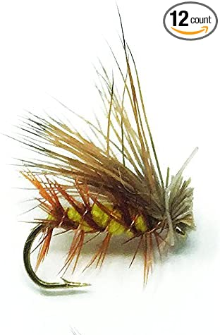 Creative Angler Elk Hair Caddis Yellow Fly Fishing Flies