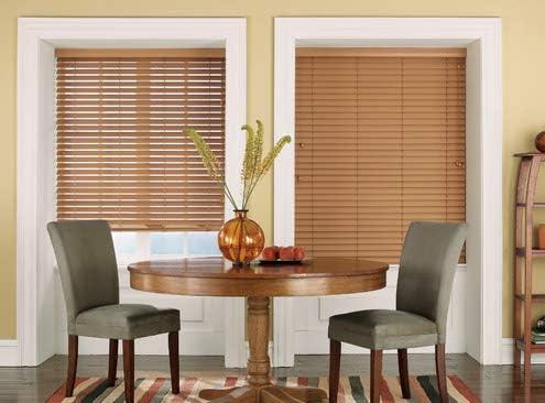 Premium Maple 2 1/2″ Inch Faux Wood Blind 68 3/8″ W x 64 L Actual Size 67 7/8 x 64