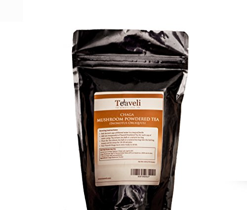 6oz of Premium Organic Chaga Mushroom Powder, Wild Harvested, Picked from Live Birch Trees in the Forests of Laurentians| Prepare Your Own Tea, Add to Your Favorite Recipe to Bulletproof Your Health