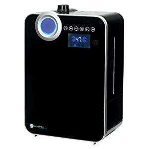 PureGuardian 12.5L Output per Day Ultrasonic Warm and Cool Mist Humidifier, Large Room, Home, Office, Bedroom, Digital Display, Auto Humidistat, Timer, Auto Shut-Off, Pure Guardian H7560B
