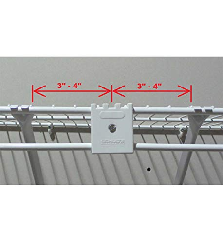 MD Group Wire Shelf Joiner Clip Kit, 2'' x .5'' x 1 lbs