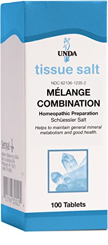 UNDA - Mélange Combination Tissue Salt - Homeopathic Remedy Helps Maintain General Mineral Metabolism and Good Health - 100 Tablets